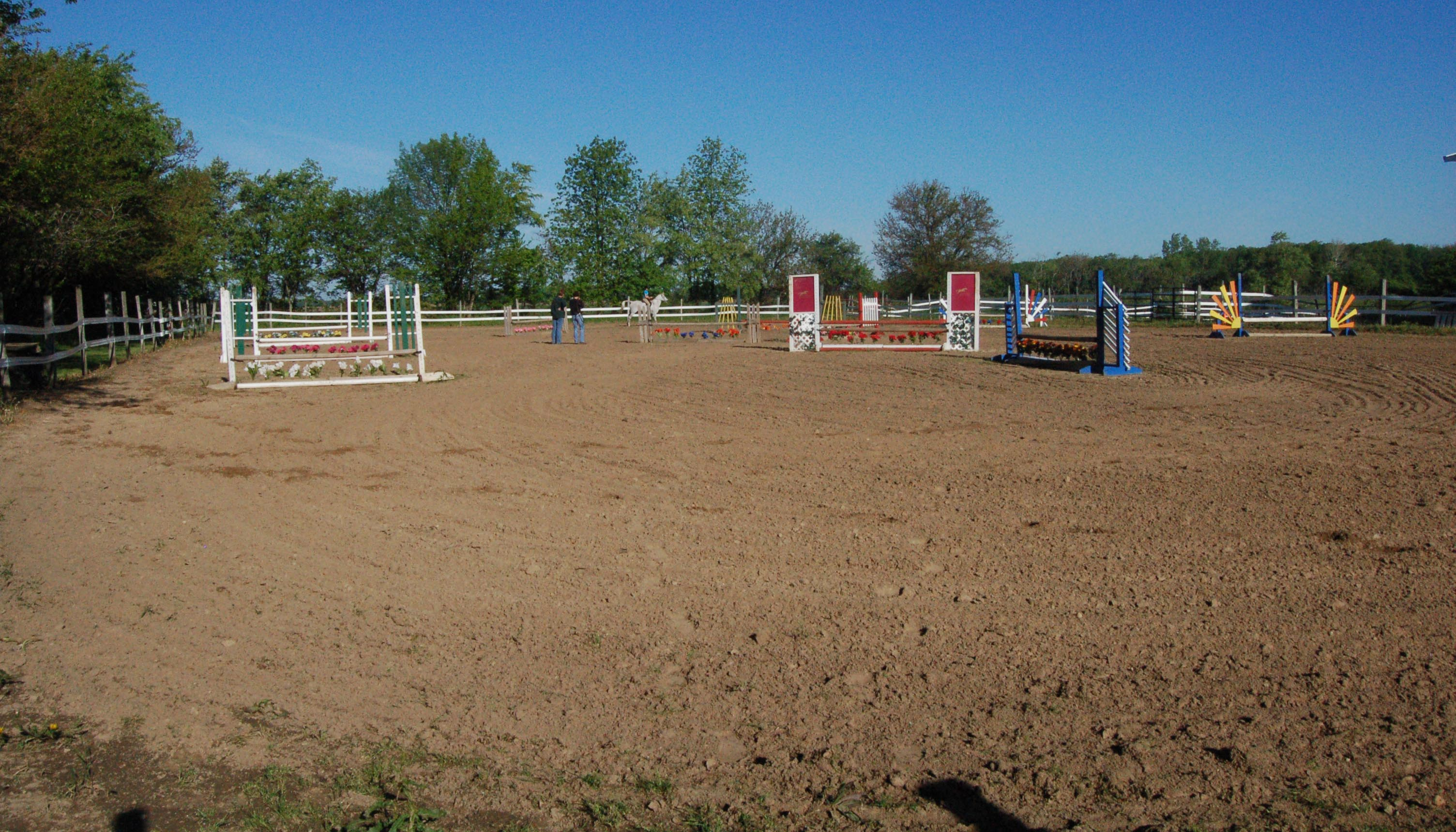 Creekside Equicenter Large Outdoor Riding Arena and Jump Course